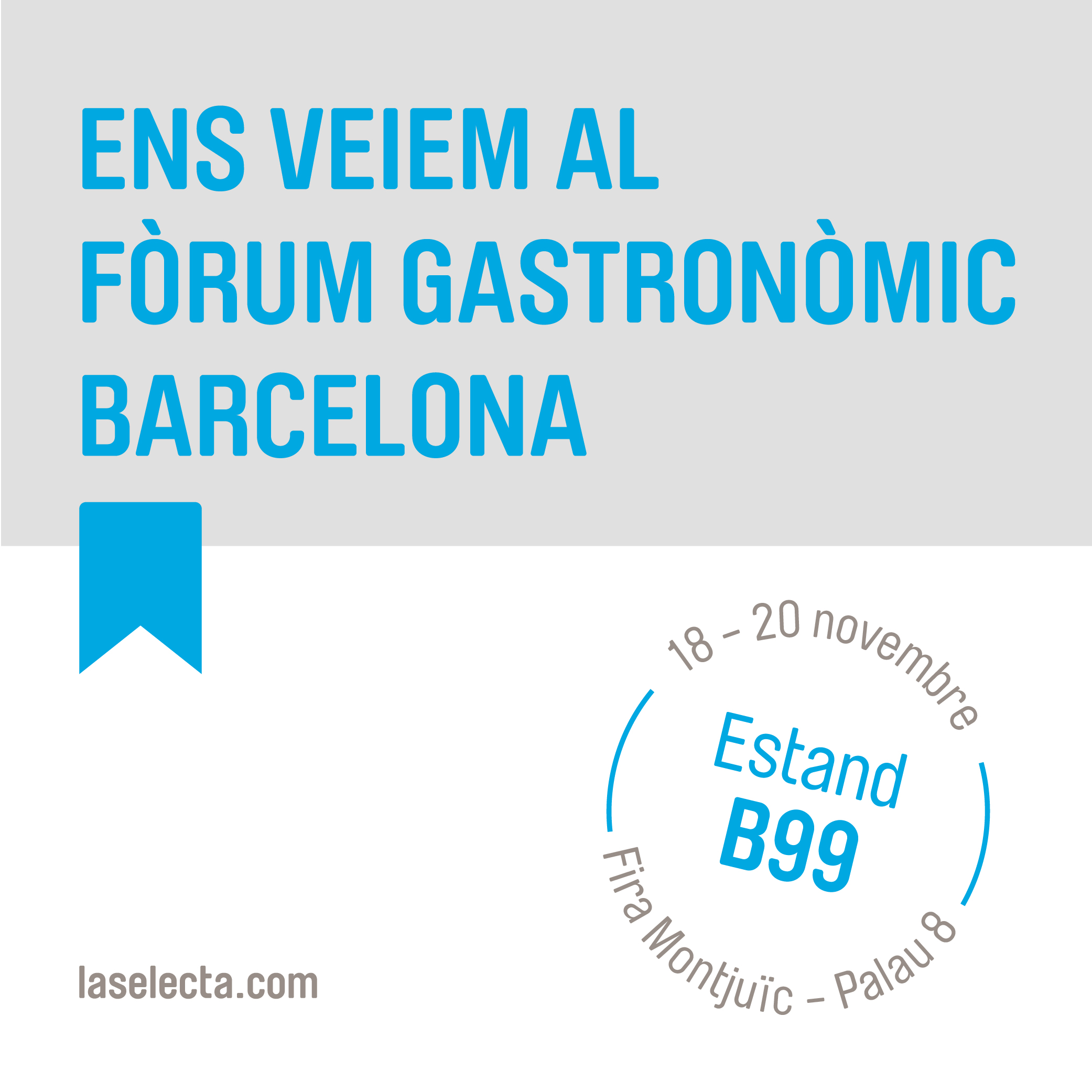 Ens veiem al Fòrum Gastronòmic Barcelona